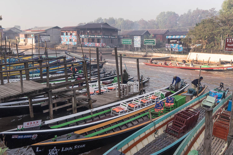 Nyaung Shwe Boat Dock