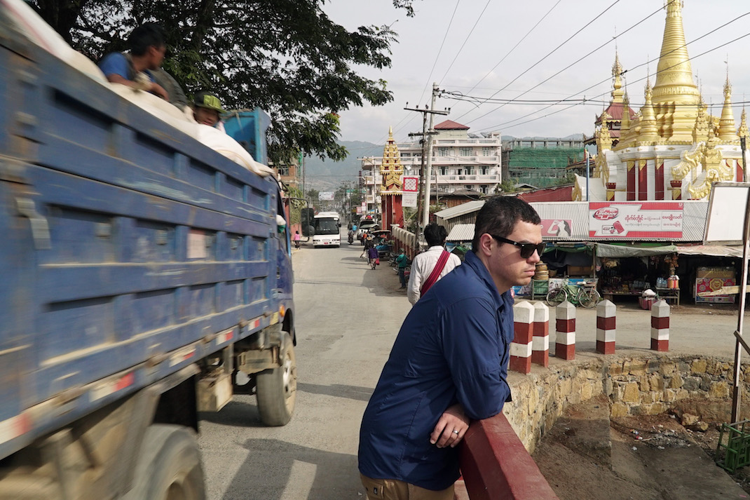 Nyaung Shwe Bridge Crossing