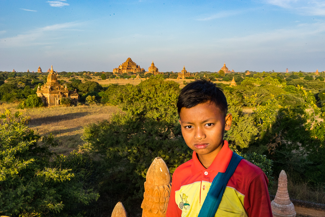 Old Bagan Temple Kid