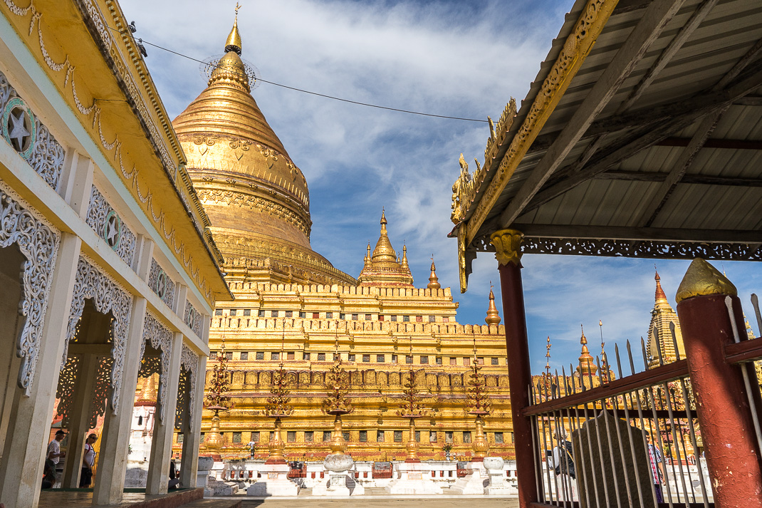 Shwezigon Pagoda Entrance View