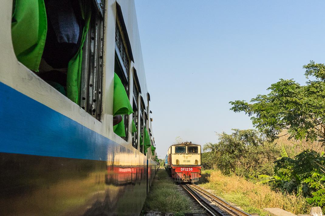 Myanmar Overnight Train Locomotive