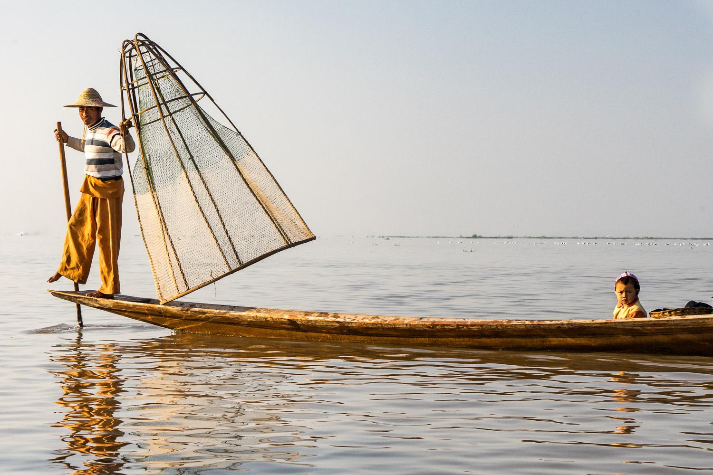 Inle Lake Fisherman Son