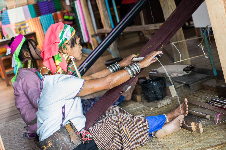 Inle Lake Padaung Weavers