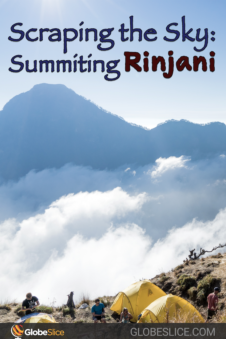 Summiting Rinjani Pinterest Pin