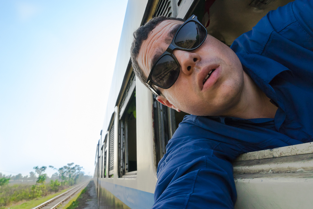 Myanmar Overnight Train Selfie