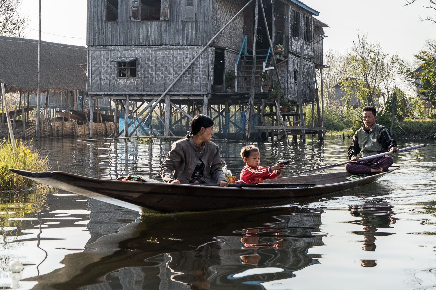 Inle Village Family Boat