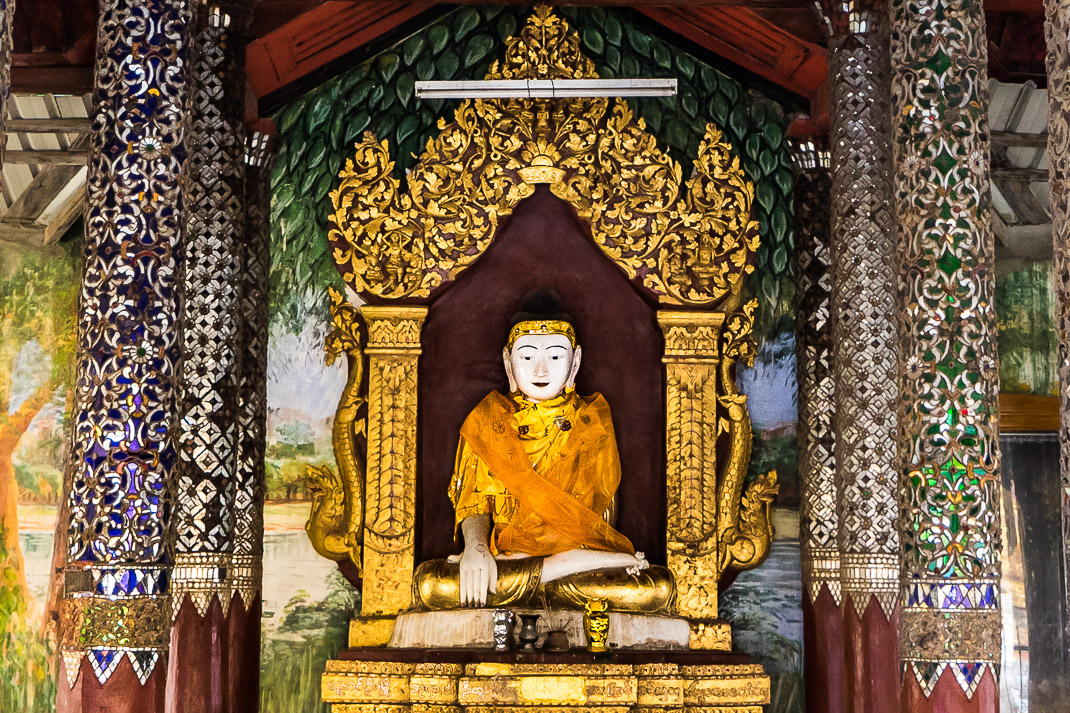 Shwezigon Pagoda Buddha Statue