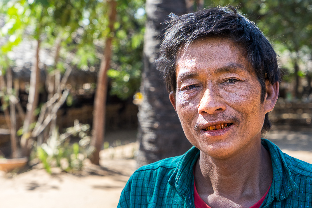 Myanmar Farmer Profile Shot