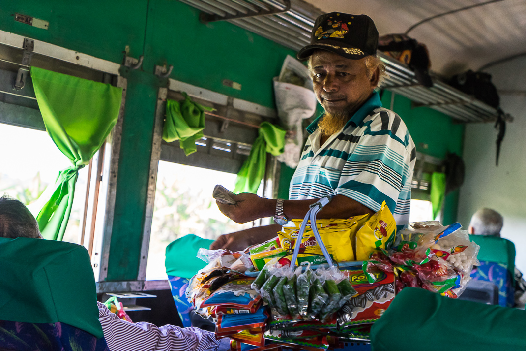 Myanmar Overnight Train Vendor