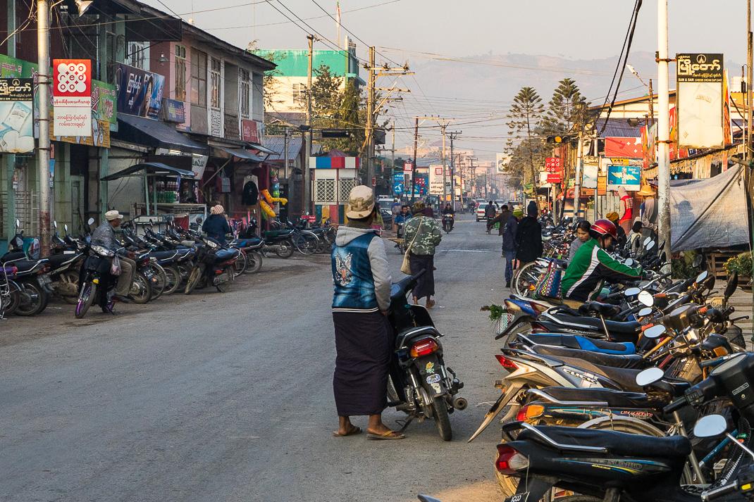 Nyaung Shwe Street Sunset