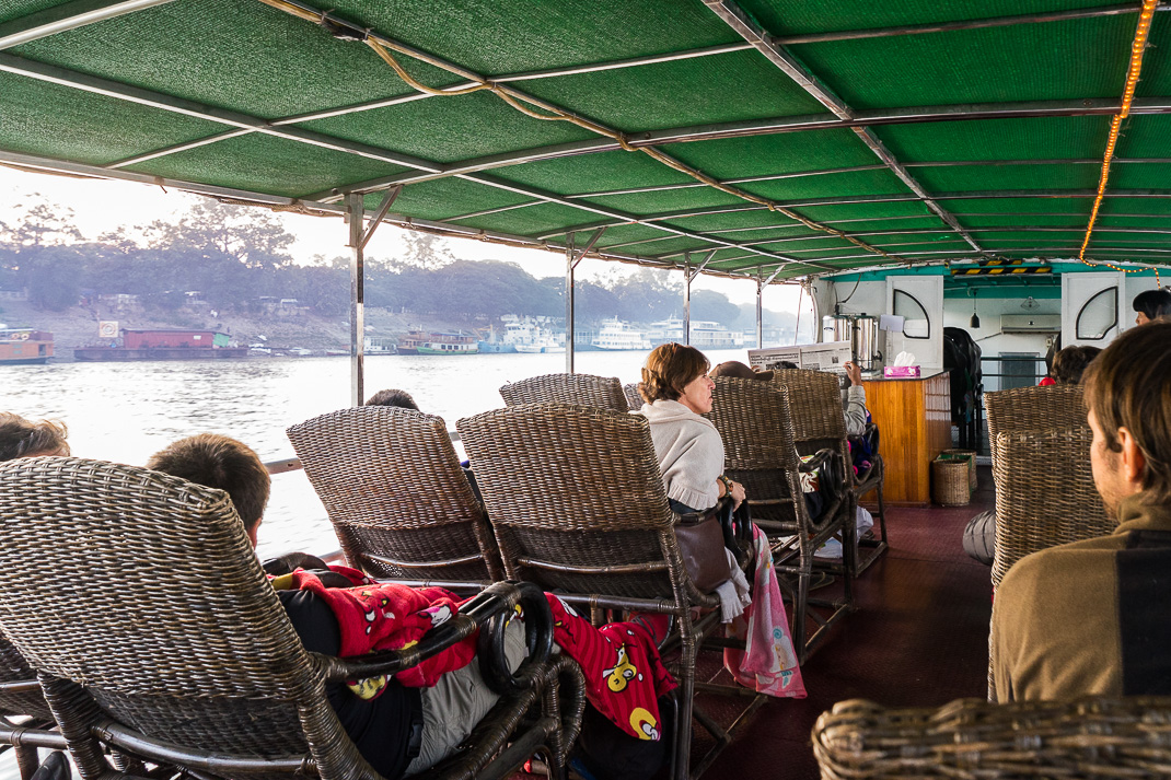 Traveling Myanmar Ferry Seats