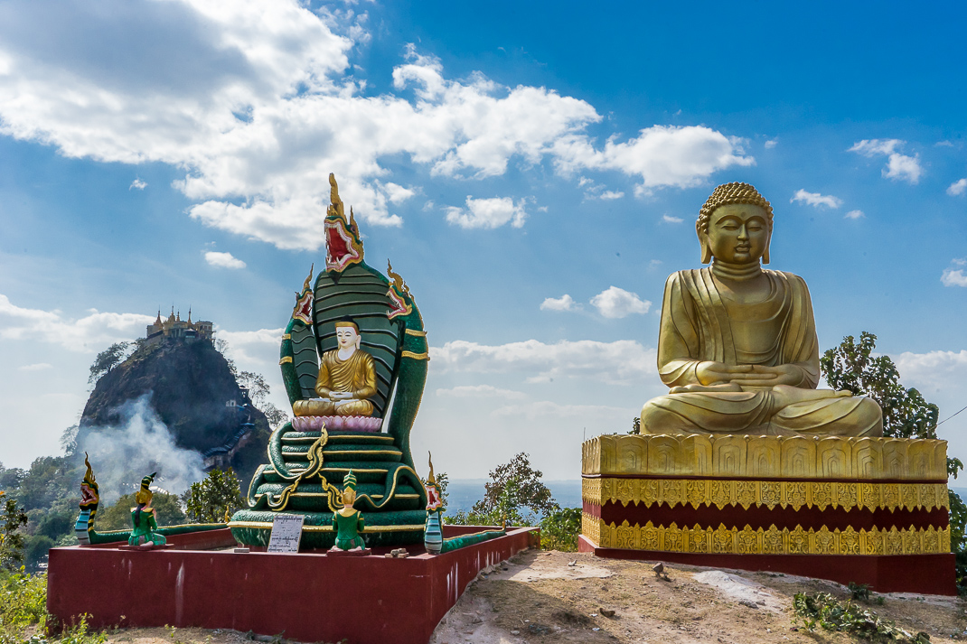 Mount Popa Statues View