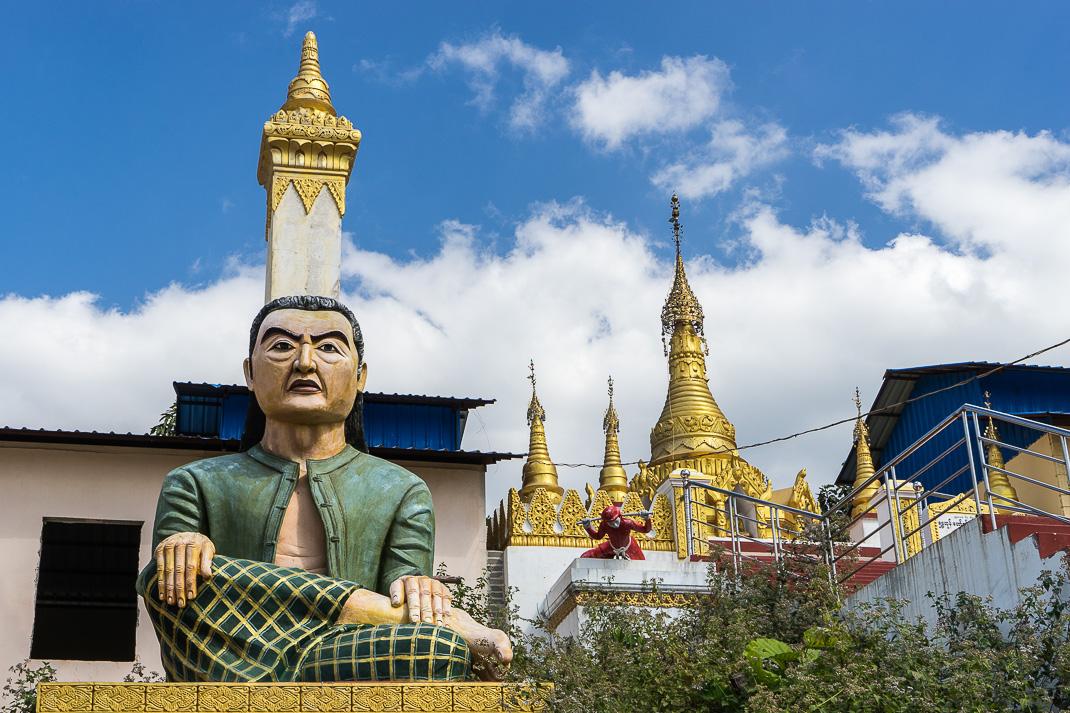 Mount Popa Grumpy Statue