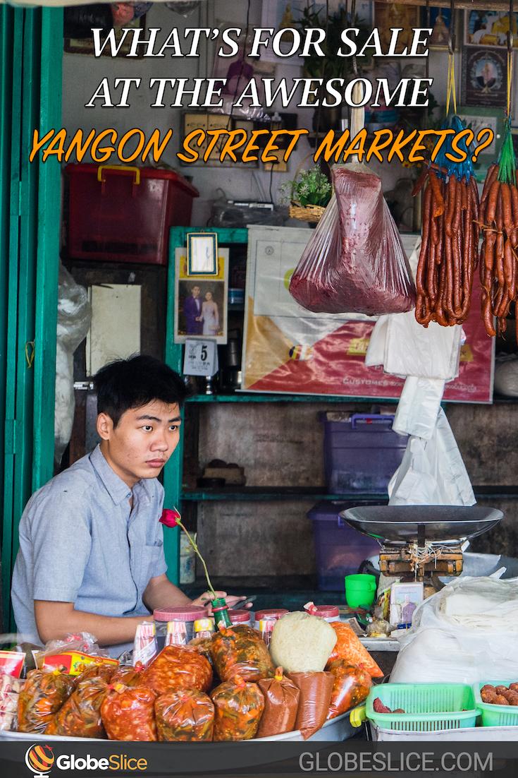 Yangon street markets Pinterest