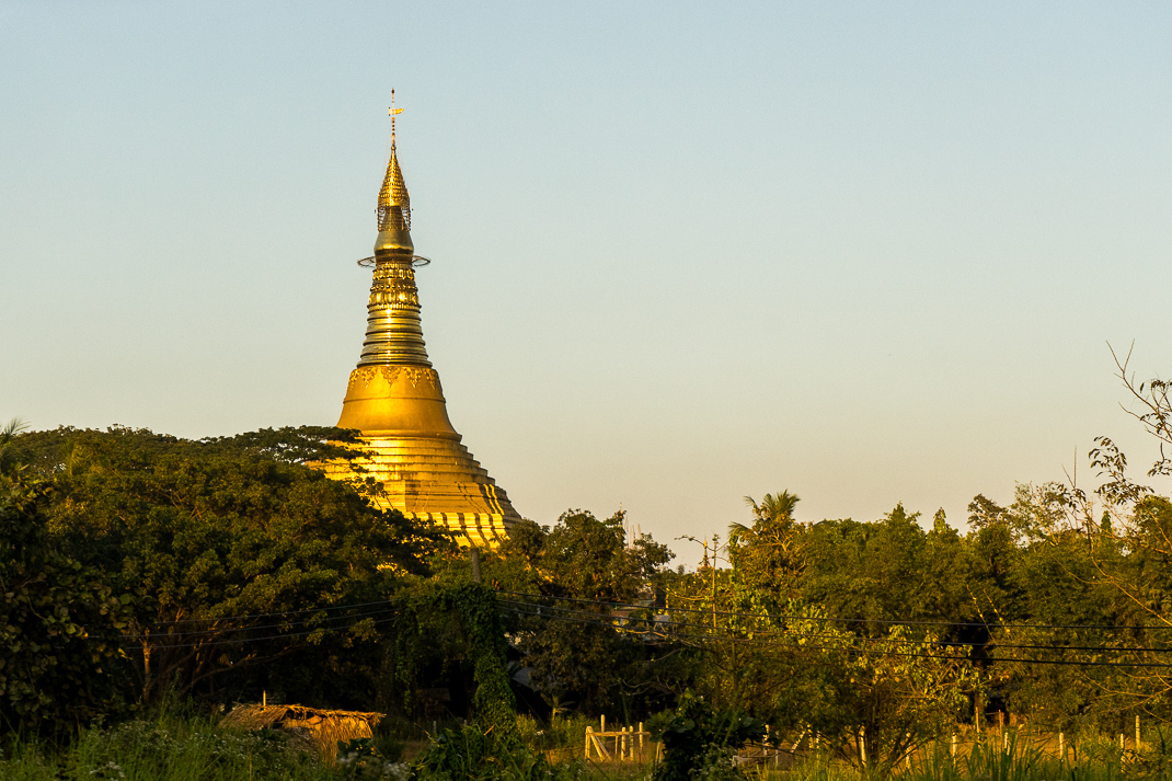 Myanmar Overnight Train Stupa